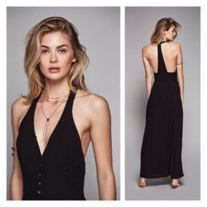 FREE PEOPLE All About It Maxi Dress T Back…